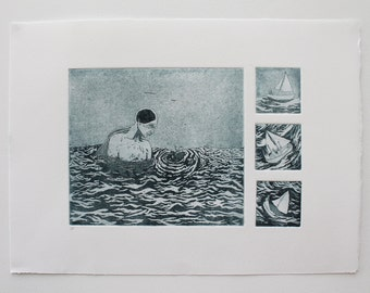 Limited Edition Etching Print - 'Black Hole'