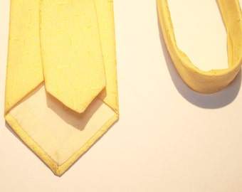 Vintage Skinny Christian Dior Yellow Tie