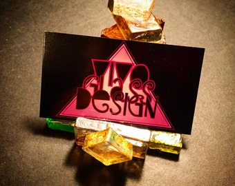 Blocks of Glass Business Card Holder