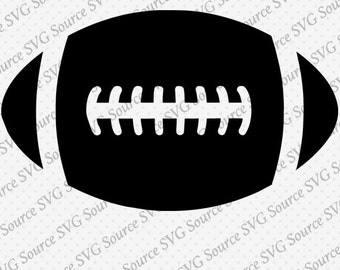 Simple Football SVG File DXF Cut File for Cricut and Silhouette Download - PNG, eps, ai