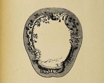 18th Century Fan - Digital Download Image Transfer Pillow Burlap Iron-On Teeshirt Fabric Scrapbooking Digital Stamp