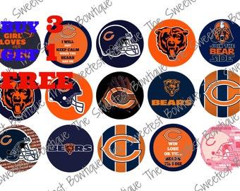 Chicago Bears Bottle Cap Images, Buy 3 Get 1 Free of equal or lesser value