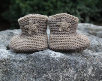 Baby Cowboy Booties with Star