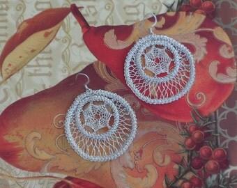 Romanian Point Lace Earrings - 202MS