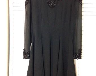 Vintage I. Magnin Sequin Dress Size 6
