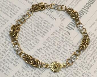 Brass Swarovski Bracelet