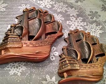 Nautical, Sailing Clipper ship, chalkware, Vintage ship, Vintage sailing, vintage sailing clipper, vintage chalkware, Man cave, ships, ship