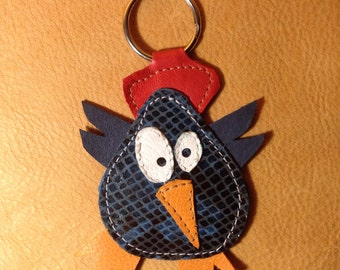 Leather handmade key chain HEN