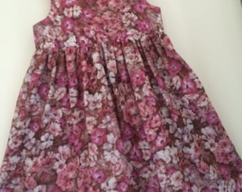 Floral cotton voile sundress size 8