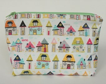 Cosmetic / Makeup Bag ... Pretty Houses