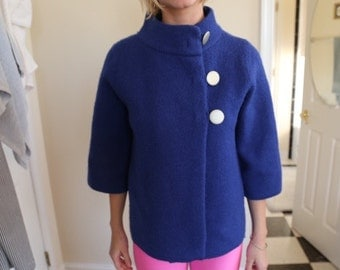 Vintage Royal Blue Day Coat