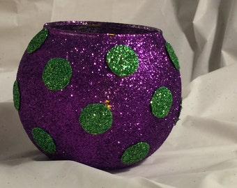 Polka-dot Globe Vase/Candle Holder