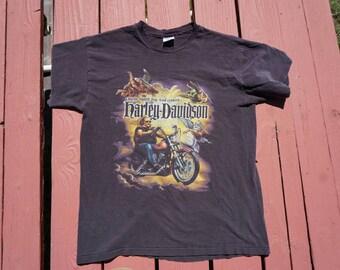 8th Day Harley Davidson Tee Men's med