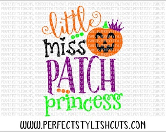 Little Miss Pumpkin Patch SVG, DXF, EPS, png Files for Cutting Machines Cameo or Cricut - Halloween Svg, Fall Svg, Princess Svg, Pumpkin Svg