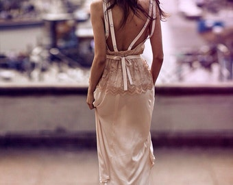 The dress with an open back