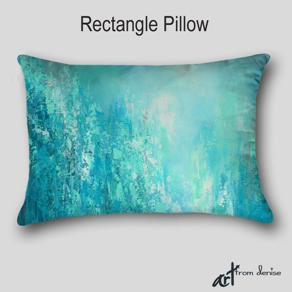 Teal Blue Throw Pillow : Throw Pillow Aqua blue Teal gray turquoise Home decor