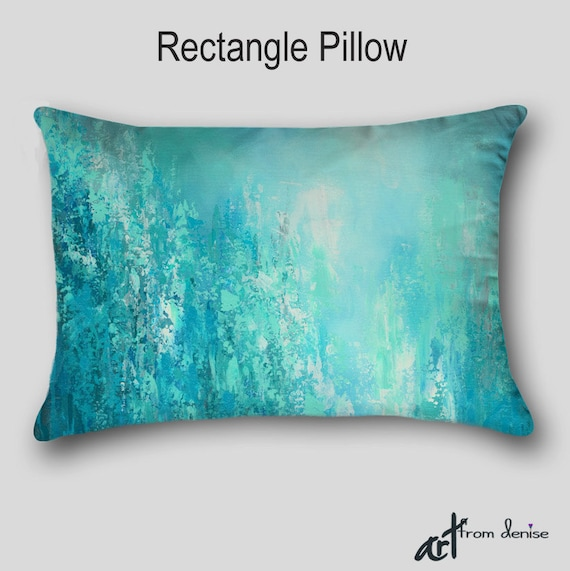 Blue And Aqua Throw Pillows : Throw Pillow Aqua blue Teal gray turquoise Home decor