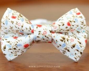 Rose Garden Cat Bow Tie Collar