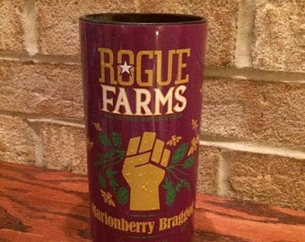 Rogue Farms Marionberry Braggot Pint Beer Bottle Glass