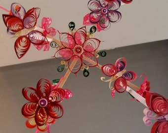 Quilling baby mobile