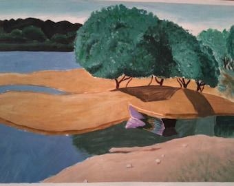 "Original Acrylic Landscape Painting -  10x14"" -Nature"