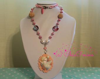 Decorative Dove Necklace- Fairy Kei