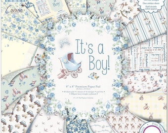 First Edition 48-Piece 8 x 8-inch It's a Boy Papers