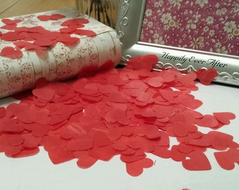 1000 Handmade Love HEART romantic Red / Wedding confetti/ Valentine's Day