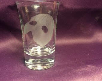 Phantom of the Opera inspired shot glass