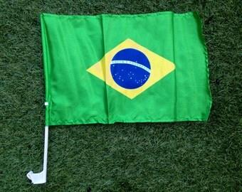 Brazil Car Window Flag