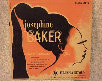 "Josephine Baker Encores Americaines 1952 Ml2613 10"" LP"