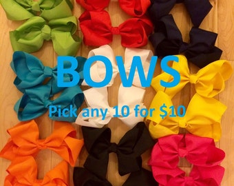 6 inch BOWS with alligator clips