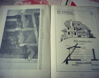 "Antique ""homes and interiors for all"" magazines architecture and decoration. Edition French vintage"