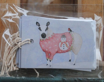 Christmas Sheep Gift Tags