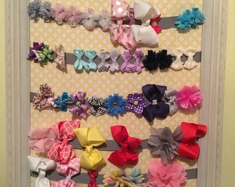 Hair bow and barett holder