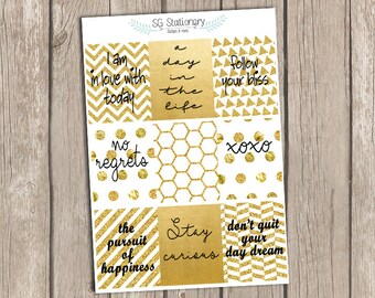 Quote Full Box Stickers, Motivational Stickers, Inspirational Stickers , Planner Stickers, box filler, Vertical layout, ECLP
