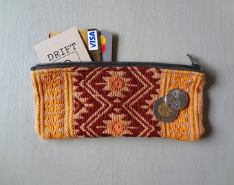 Hand Woven Colourful Zippered Pouch from Oaxaca, Mexico - #31