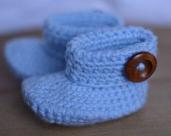 BLUE BABY BOOTIES (Newborn)