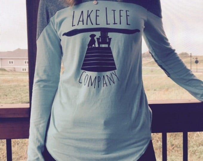 SALE! Turquoise Women's Long Sleeve Tee: Lake Life Company Apparel