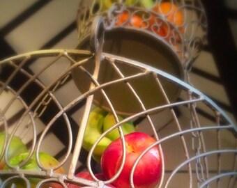 Hanging Kitchen Basket, three tier, metal