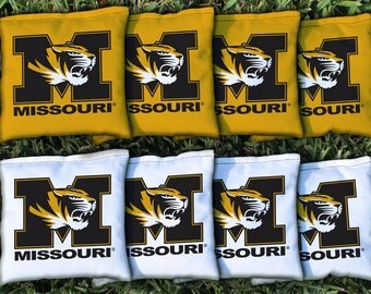 Missouri Mizzou Tigers Cornhole Bag Set