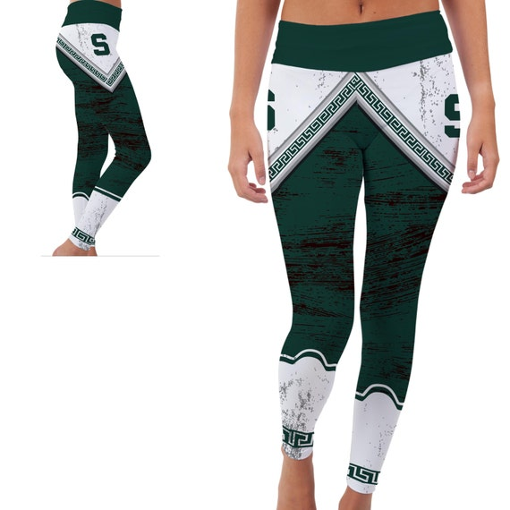 Michigan State Spartans Yoga Pants By VictoryTailgateUSA