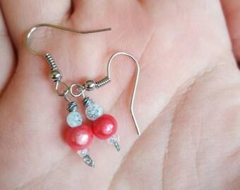 Handmade pink shimmer Earrings