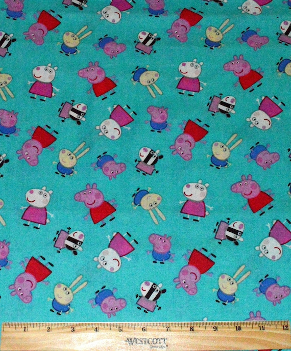 PEPPA PIG FABRIC / 1/2 Yard For Quilting / Suzy Sheep - George Pig ... : peppa pig quilting fabric - Adamdwight.com