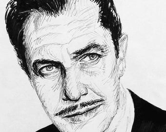 Vincent Price pen drawing