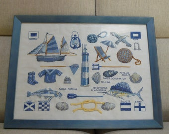 "Cross stitch picture ""Sea"""