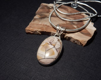 Mookaite Handmade .925  Sterling Silver Pendant Chain Necklace Cabochon Gemstone