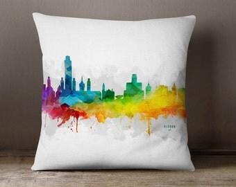 Albany Skyline Throw Pillow, 18x18, Albany Cityscape, Albany City Pillow Case, Cushion, Gift Idea, MMR-USNYAL05PI