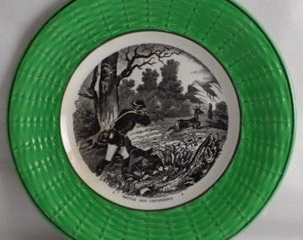 Plate Sarreguemines beaten deer