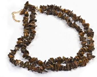 Necklace vintage Tiger eye